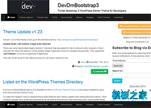 Bootstrap3框架打造可定制wordpress模板下载